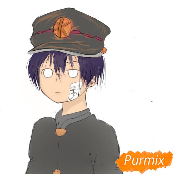 Рисуем Аманэ Юги из аниме Туалетный мальчик Ханако-кун - шаг 9