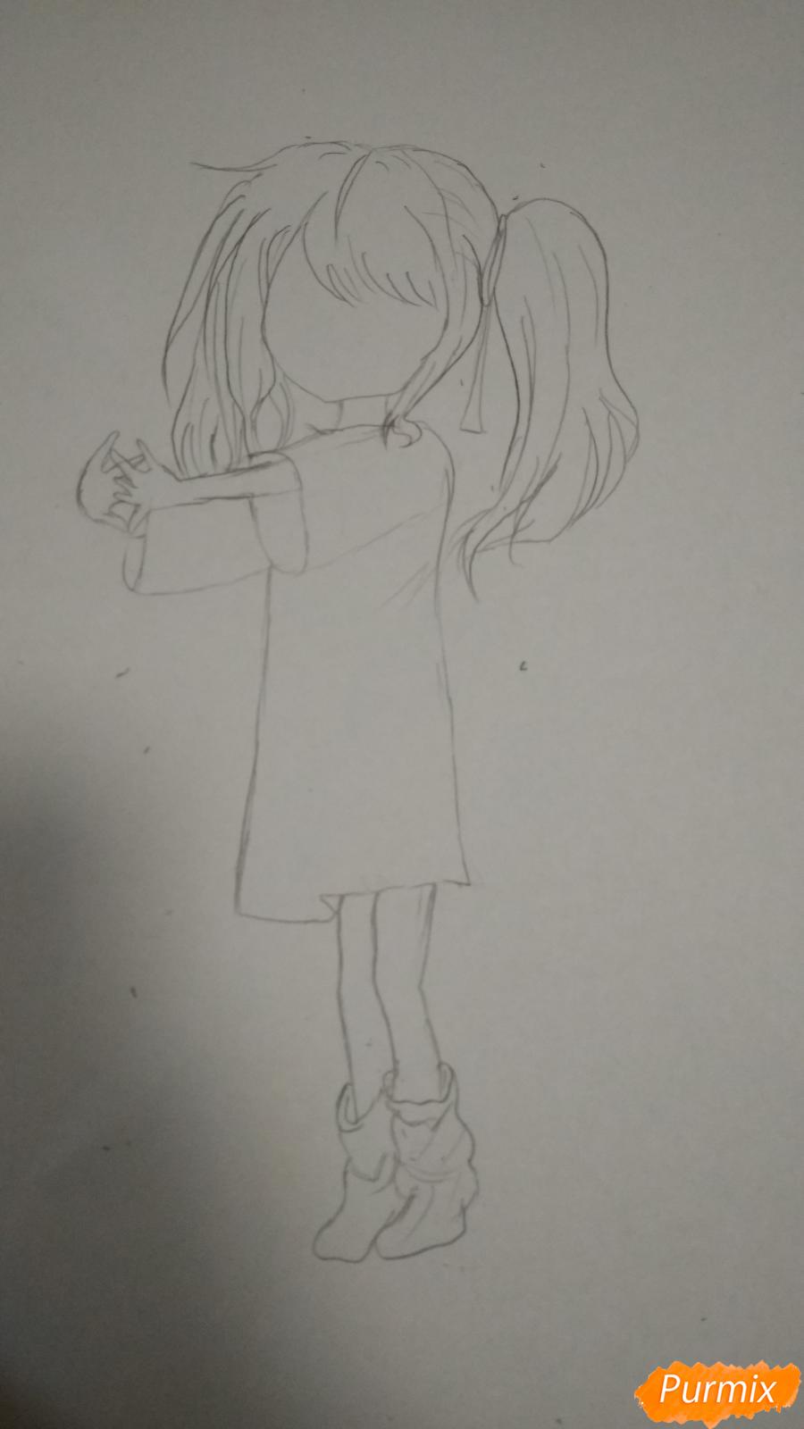 Девочка с розовыми волосами - шаг 2
