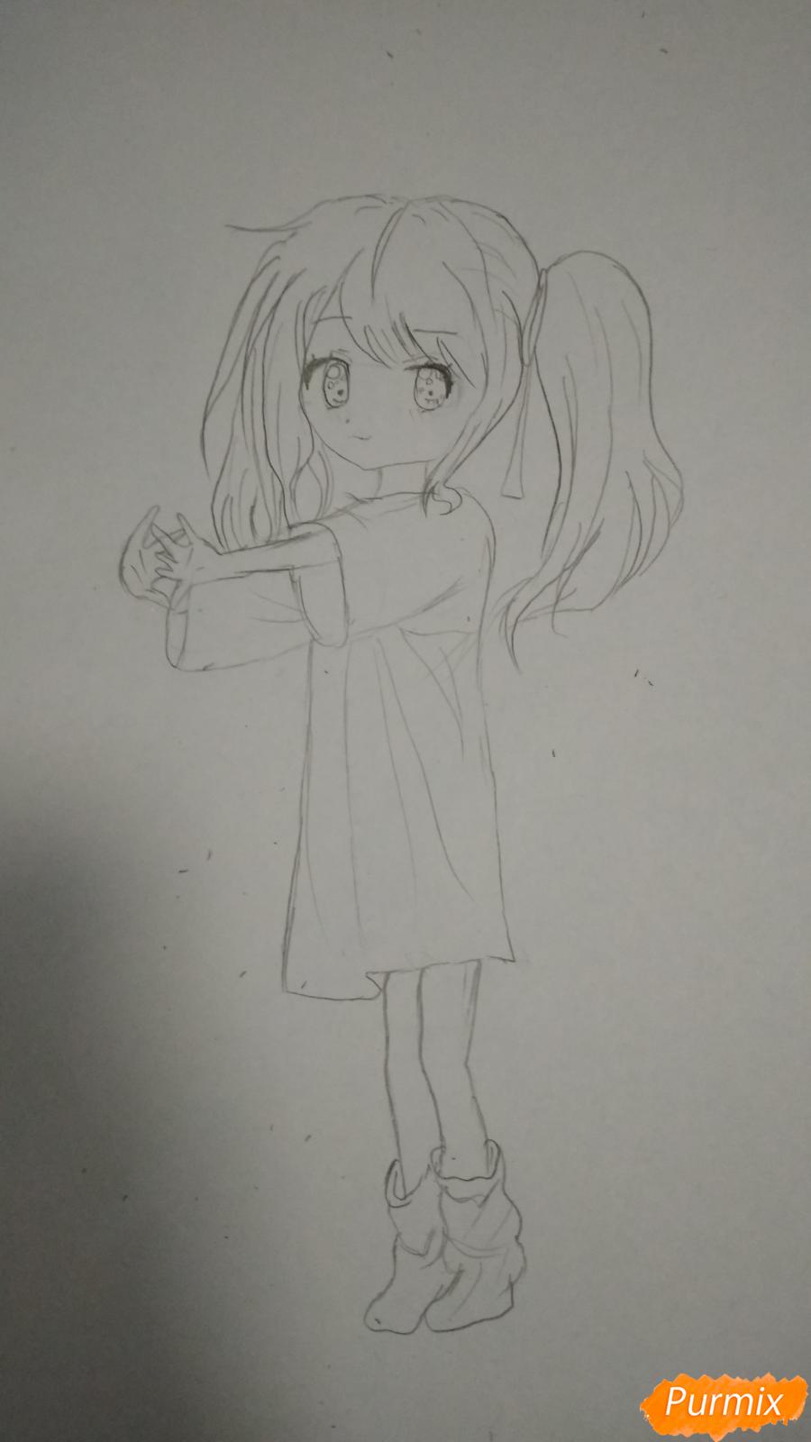Девочка с розовыми волосами - шаг 3