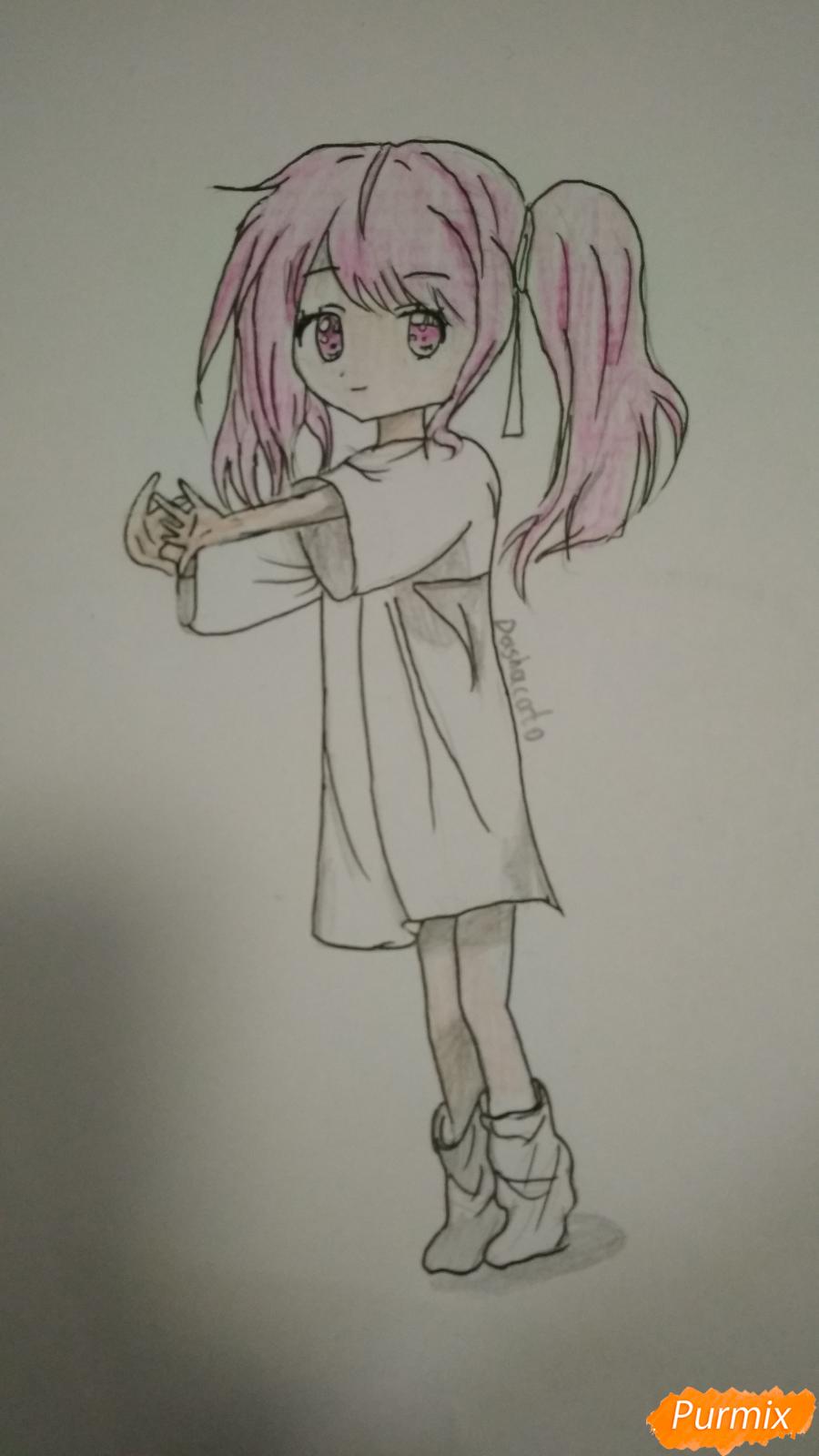 Девочка с розовыми волосами - шаг 9