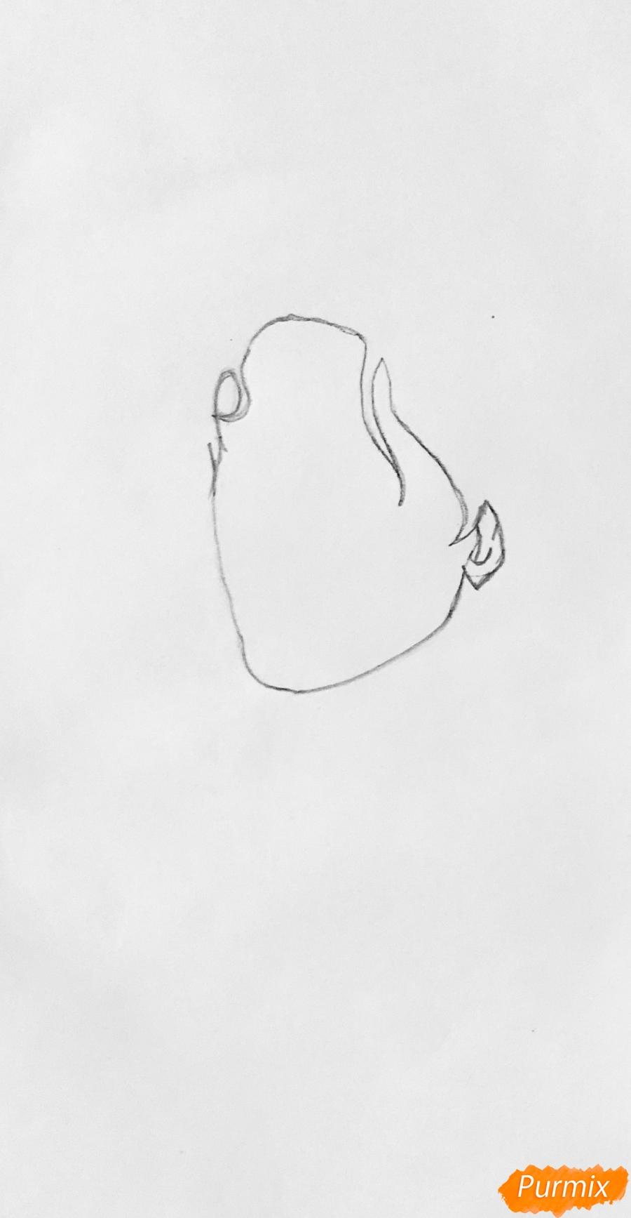 Рисуем Джагхеда в стиле аниме из сериала Ривердейл - шаг 1