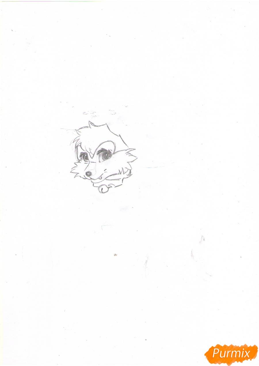 Рисуем аниме лиса - шаг 1