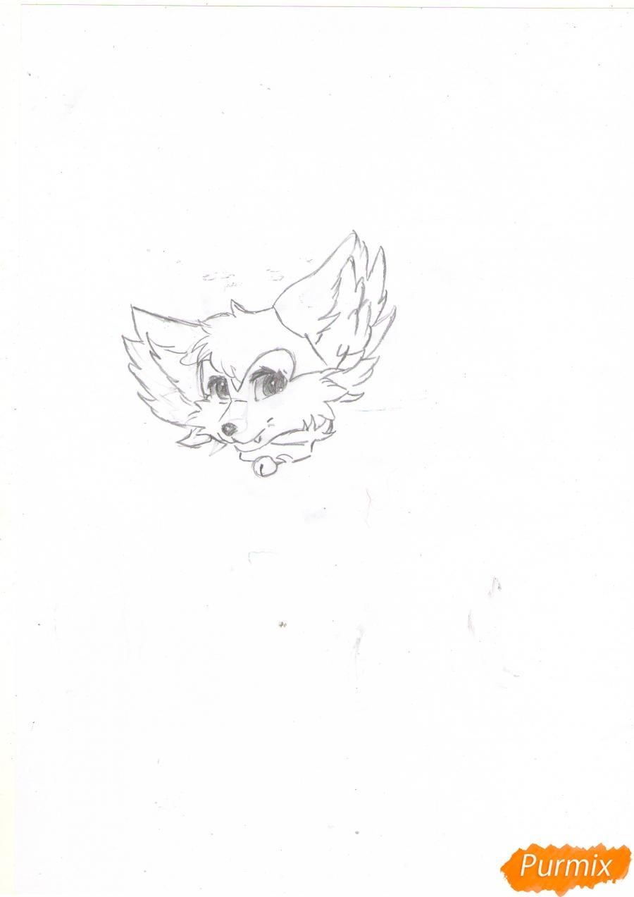 Рисуем аниме лиса - шаг 2