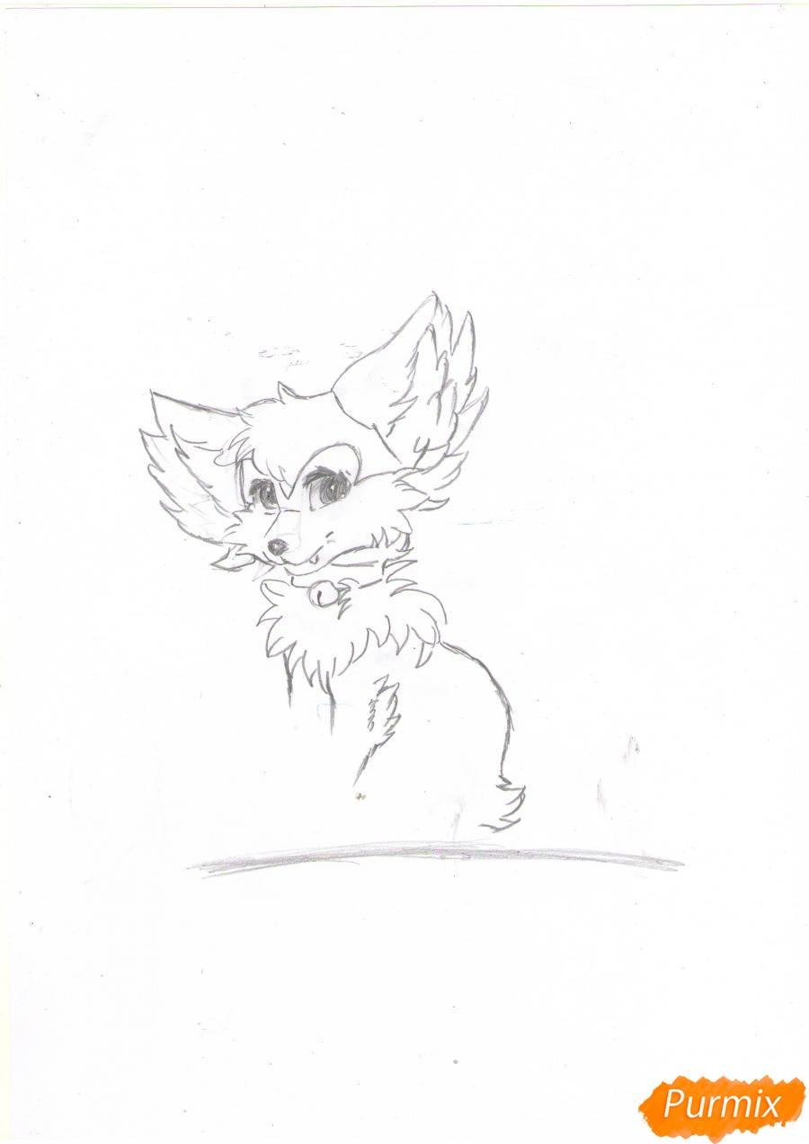 Рисуем аниме лиса - шаг 3