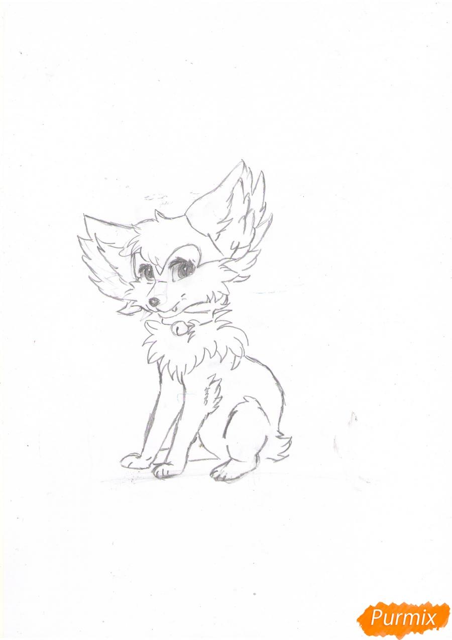Рисуем аниме лиса - шаг 5
