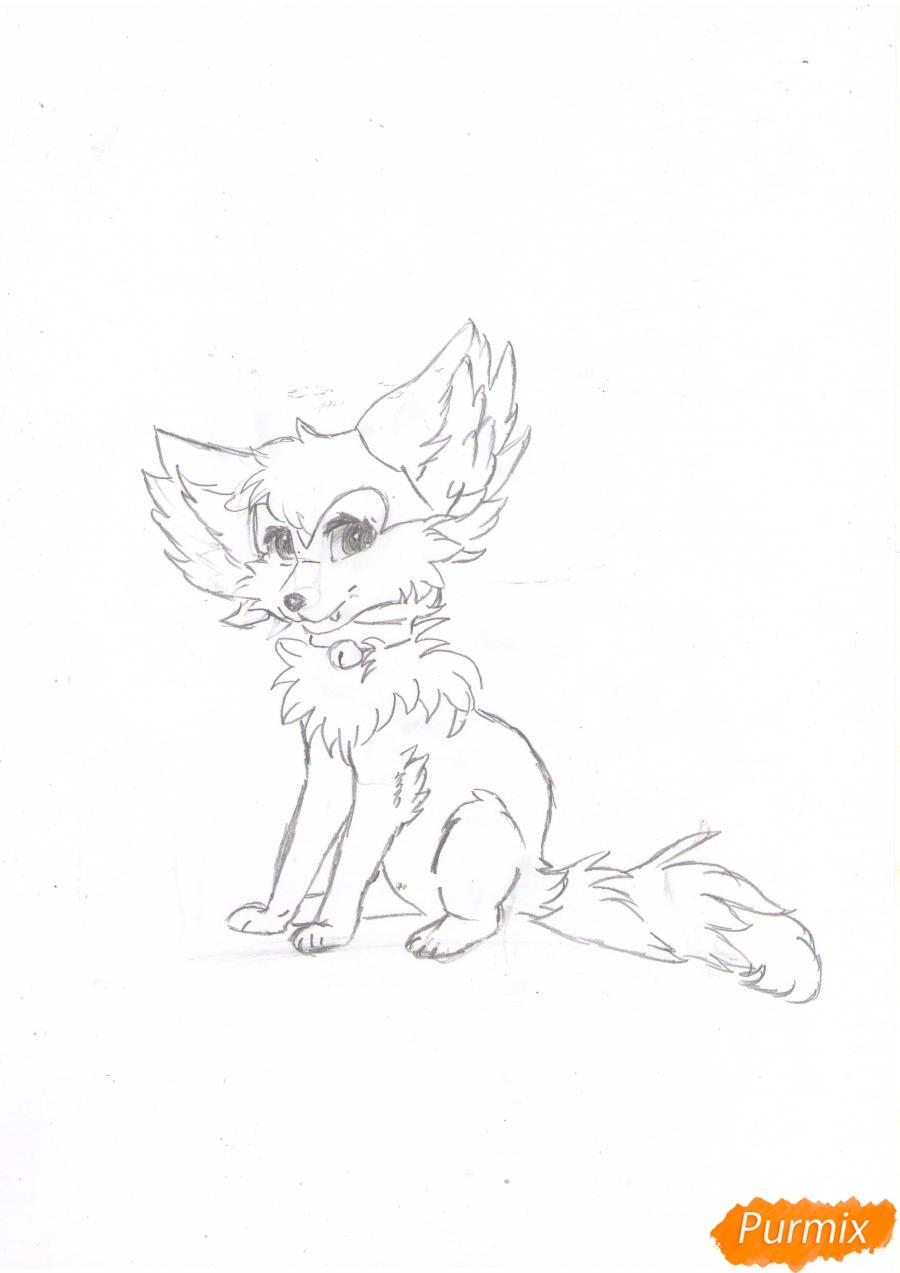 Рисуем аниме лиса - шаг 6