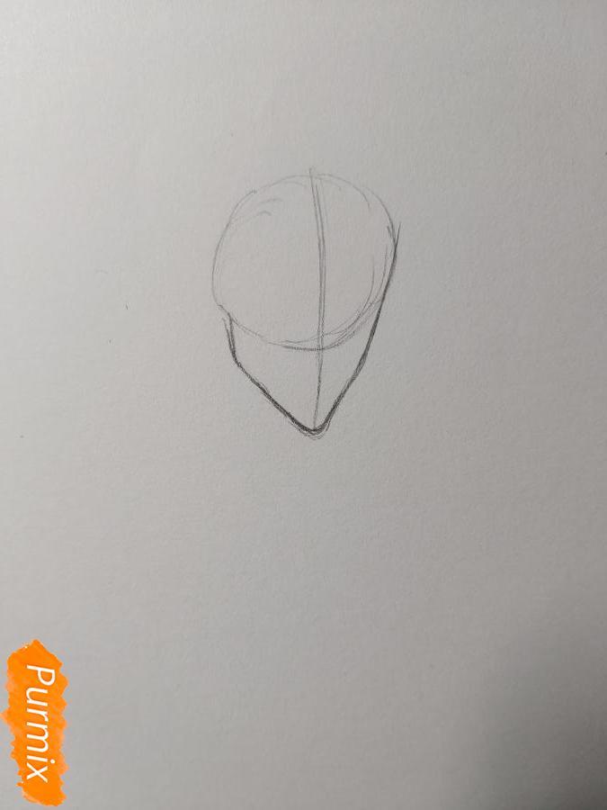 Рисуем аниме парня-эльфа карандашами - шаг 1