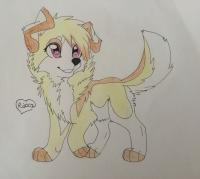 аниме собаку карандашом