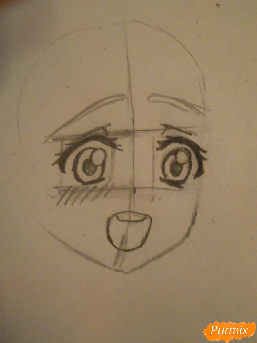 Рисуем Аясе Алису из аниме Love Live цветными карандашами - шаг 2