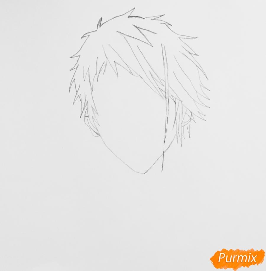 Рисуем портрет Бенедикта Блю из аниме Вайолетт Эвергарден - шаг 2