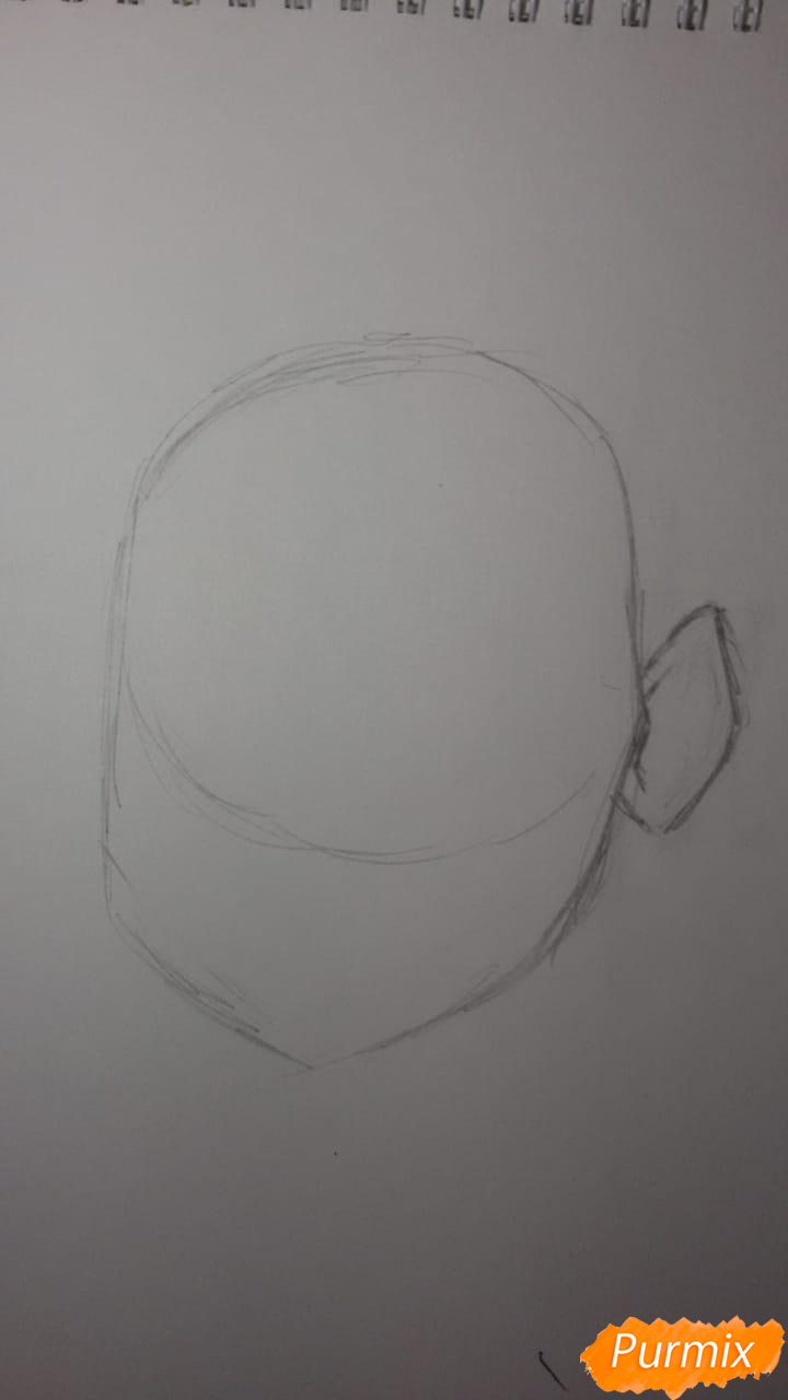 Рисуем Бурю из аниме Ванпанчмен - шаг 1