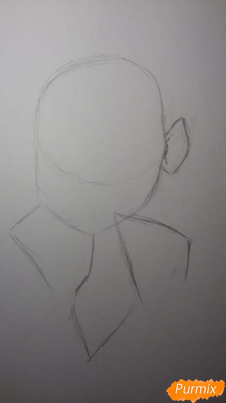 Рисуем Бурю из аниме Ванпанчмен - шаг 2