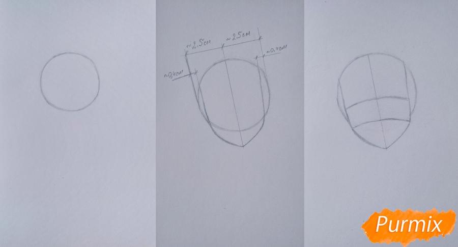 Рисуем Чамо Россо из аниме Герои шести цветов - шаг 1