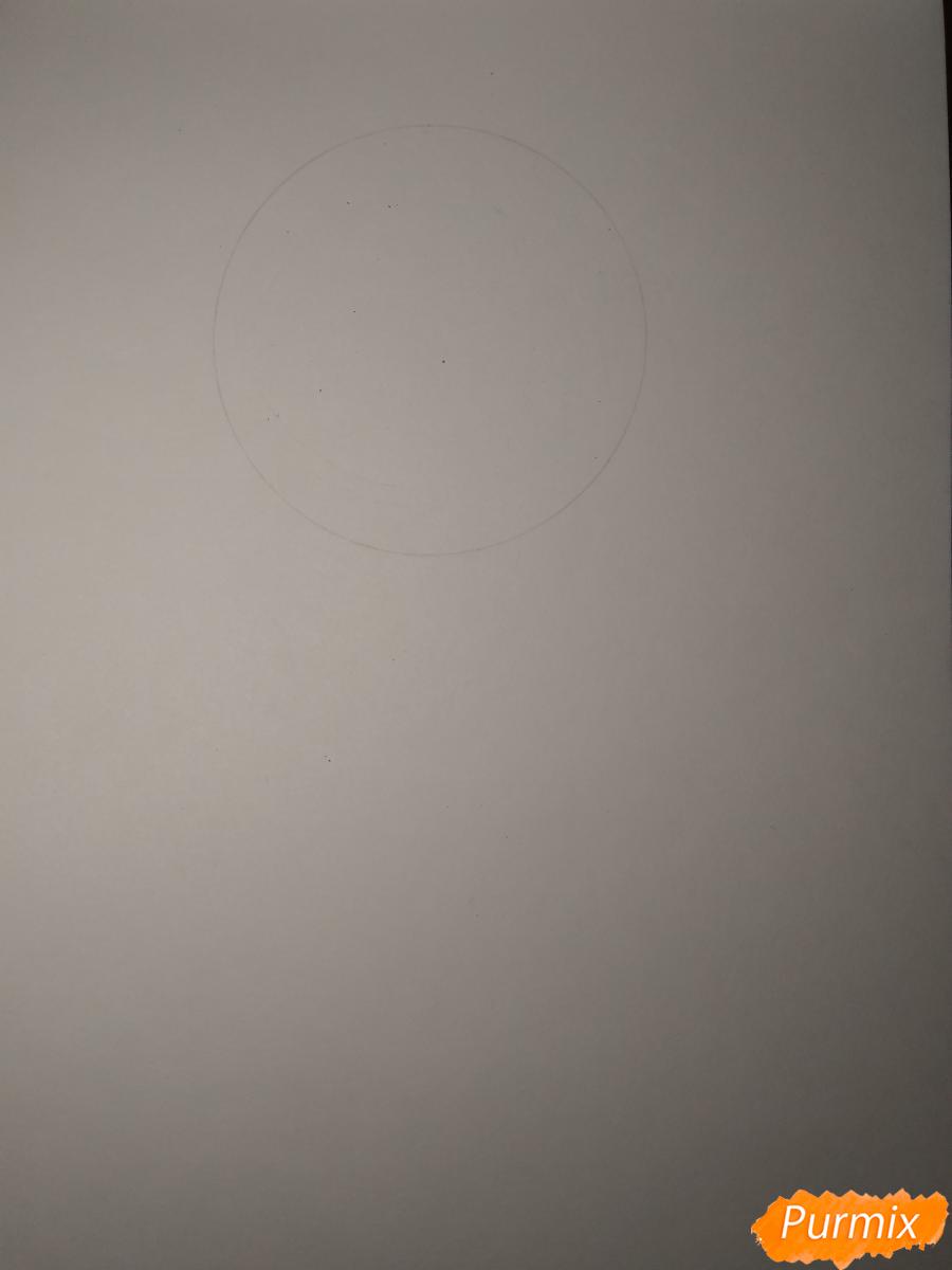 Рисуем Чариос 17 из аниме Ярость Бахамута: Невинная душа - шаг 1
