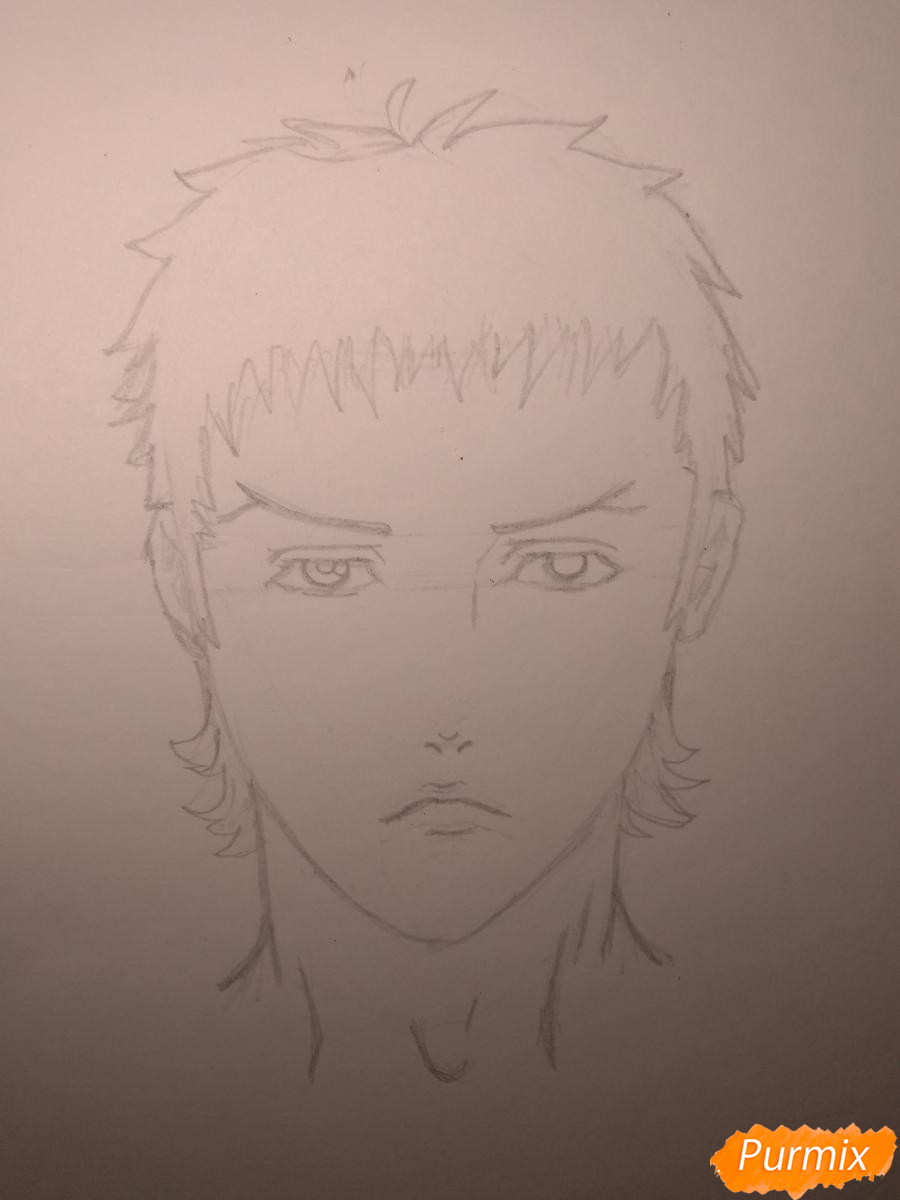 Рисуем Чариос 17 из аниме Ярость Бахамута: Невинная душа - шаг 10