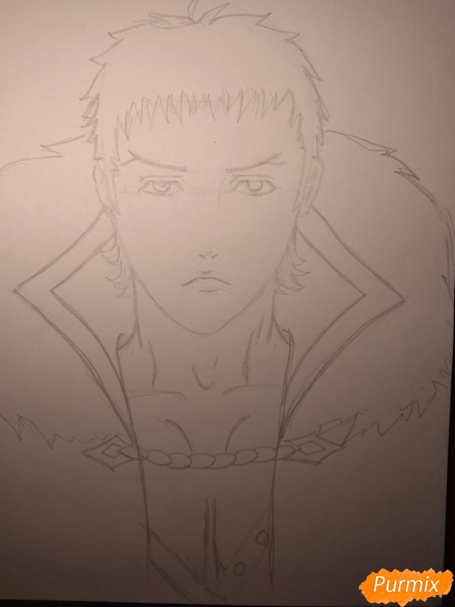 Рисуем Чариос 17 из аниме Ярость Бахамута: Невинная душа - шаг 11