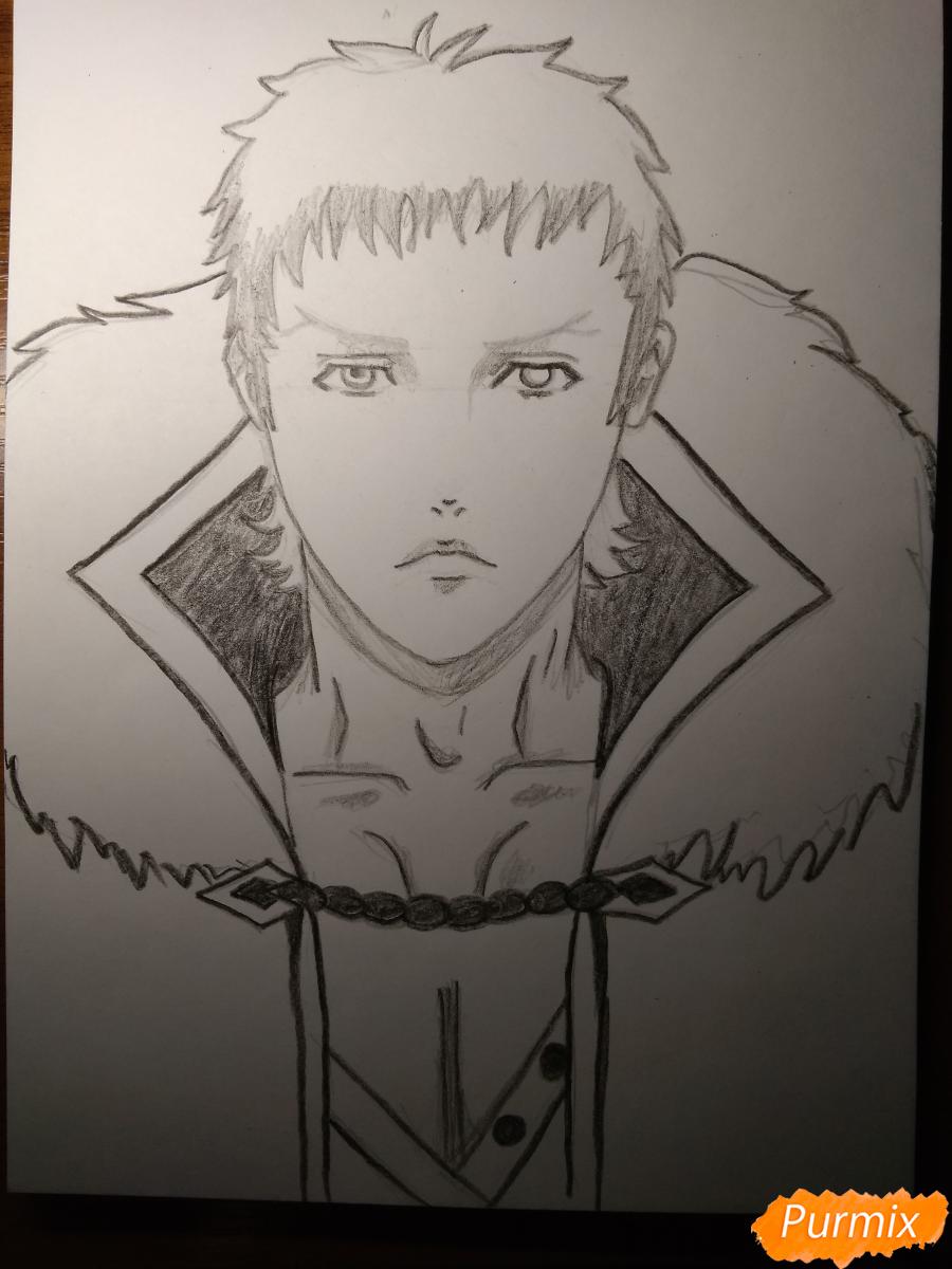 Рисуем Чариос 17 из аниме Ярость Бахамута: Невинная душа - шаг 12