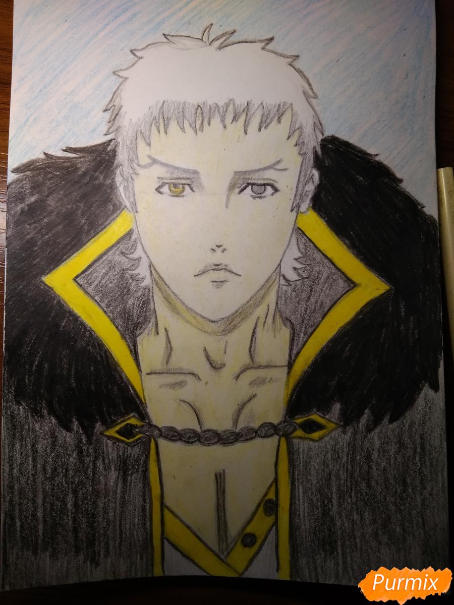 Как нарисовать Чариос 17 из аниме Ярость Бахамута: Невинная душа