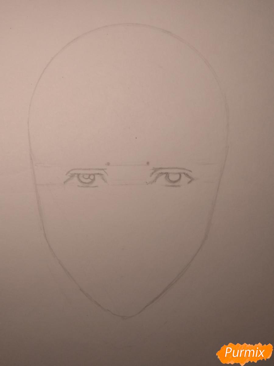 Рисуем Чариос 17 из аниме Ярость Бахамута: Невинная душа - шаг 4