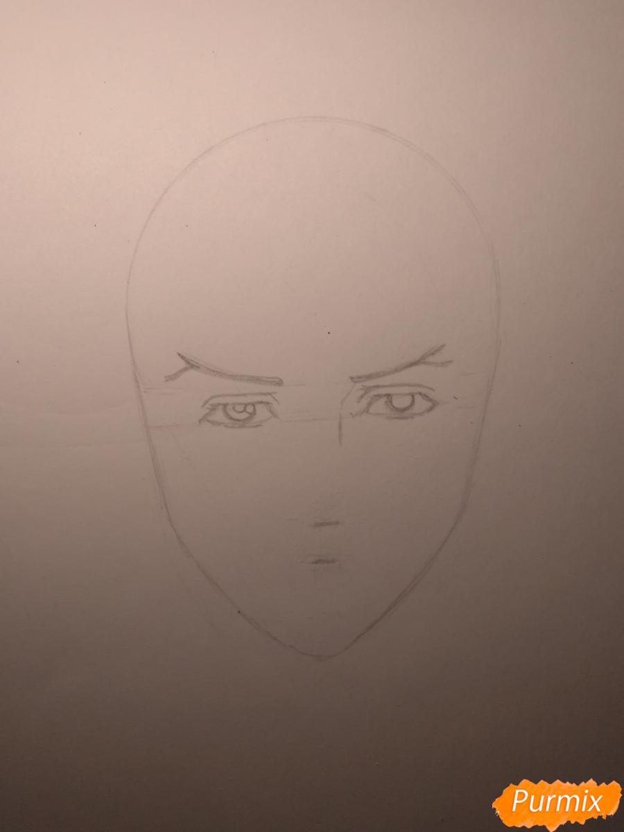 Рисуем Чариос 17 из аниме Ярость Бахамута: Невинная душа - шаг 6