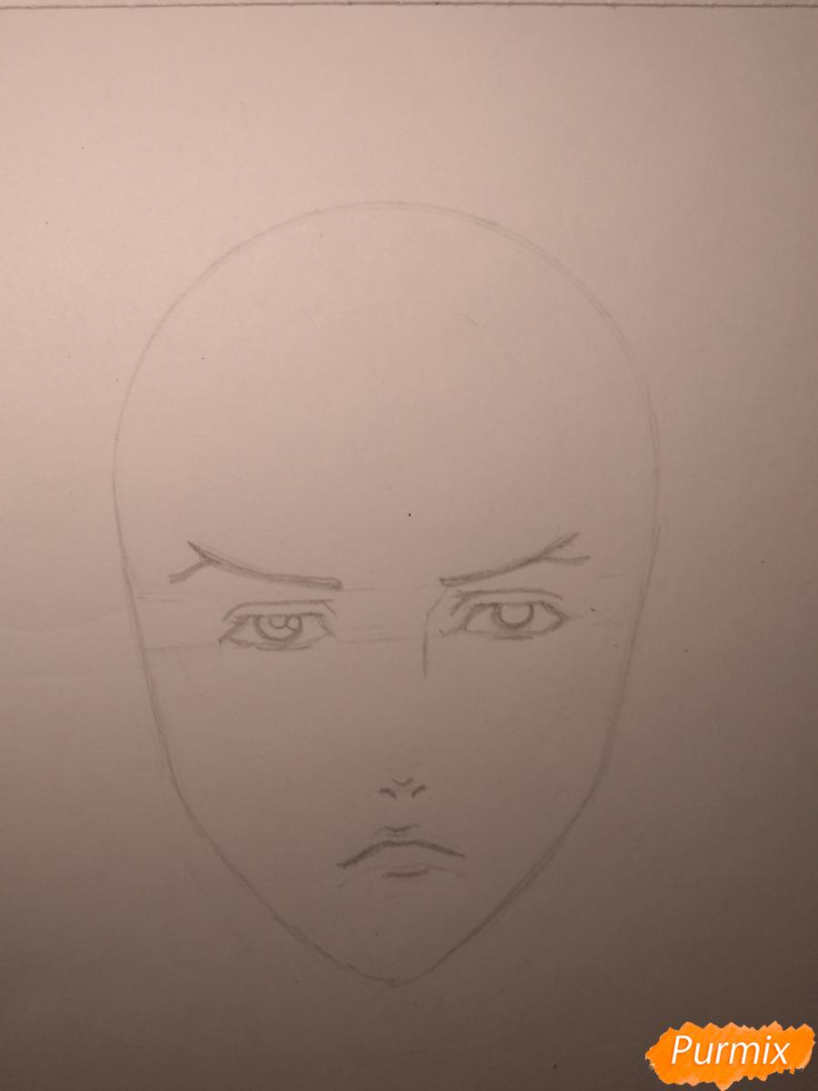 Рисуем Чариос 17 из аниме Ярость Бахамута: Невинная душа - шаг 7