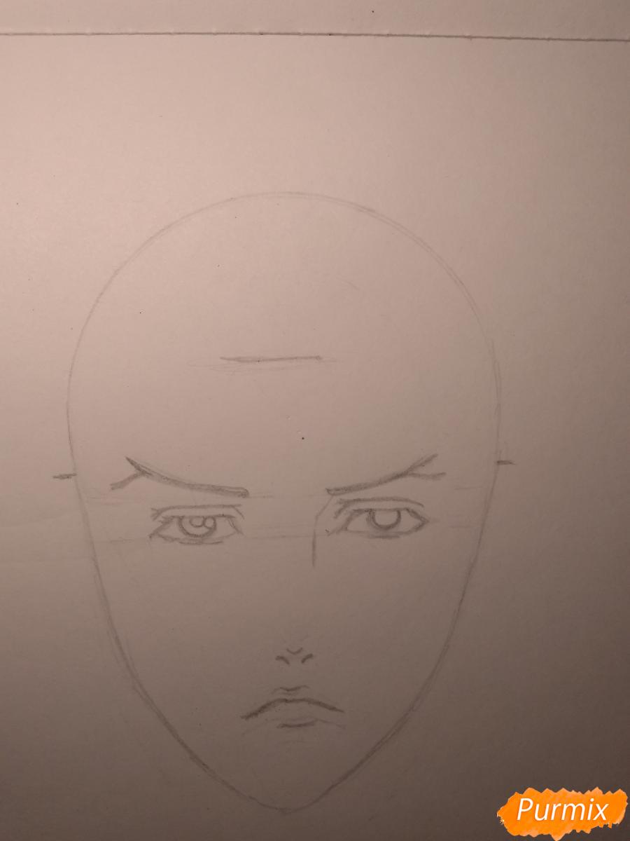 Рисуем Чариос 17 из аниме Ярость Бахамута: Невинная душа - шаг 8