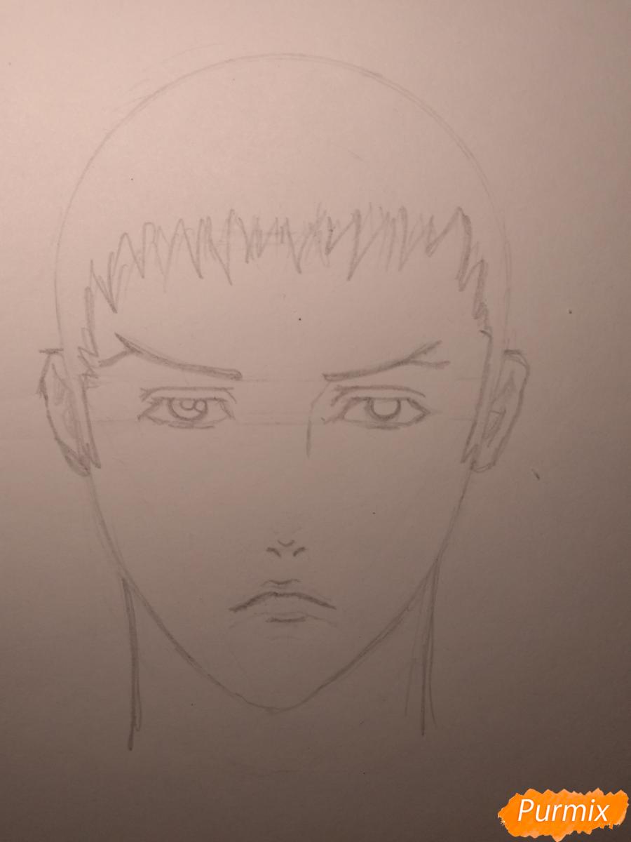 Рисуем Чариос 17 из аниме Ярость Бахамута: Невинная душа - шаг 9