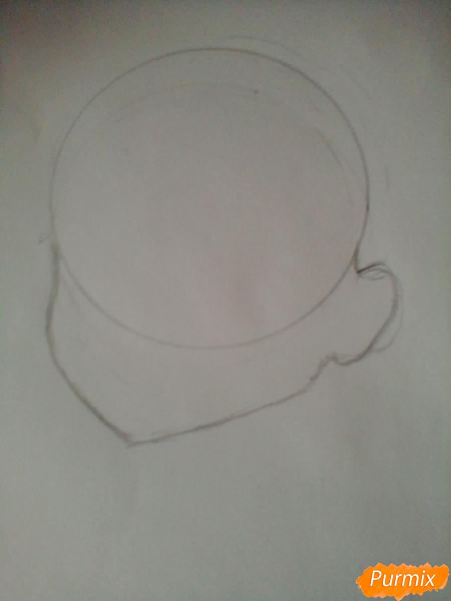 Рисуем и раскрасить Чики Таками из аниме Живая Любовь - шаг 1