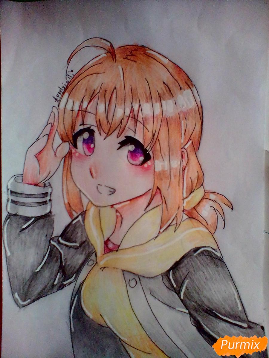 Как нарисовать и раскрасить Чики Таками из аниме Живая Любовь