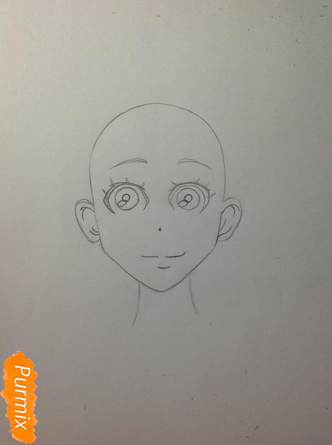 Рисуем Дайду Хибану из аниме Deadman Wonderland - шаг 5
