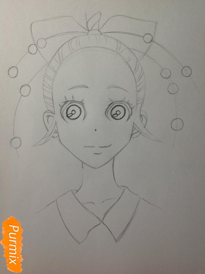 Рисуем Дайду Хибану из аниме Deadman Wonderland - шаг 6
