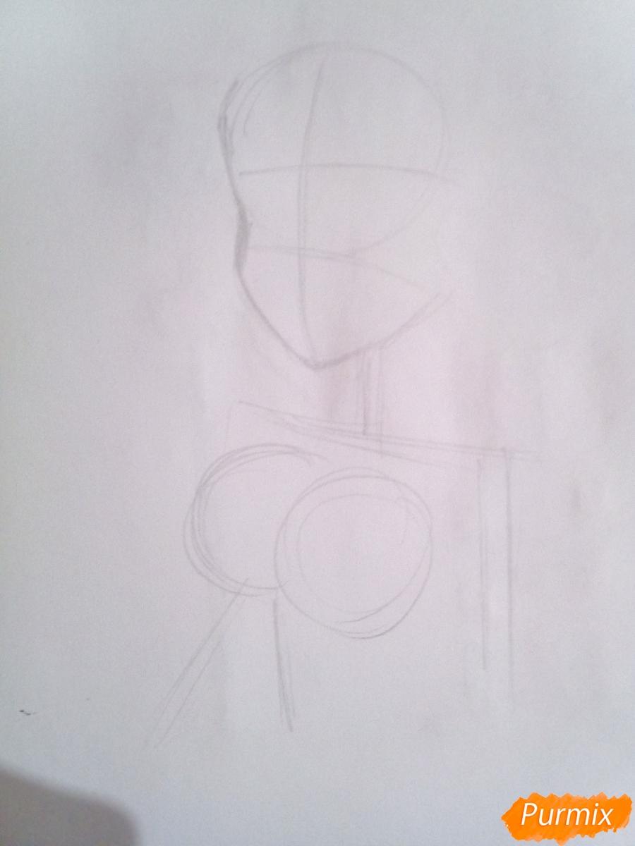 Рисуем Диану из аниме Семь Смертных Грехов - шаг 1