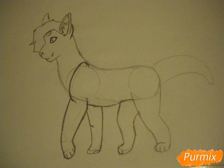Рисуем дикого кота с коричневым окрасом - шаг 5