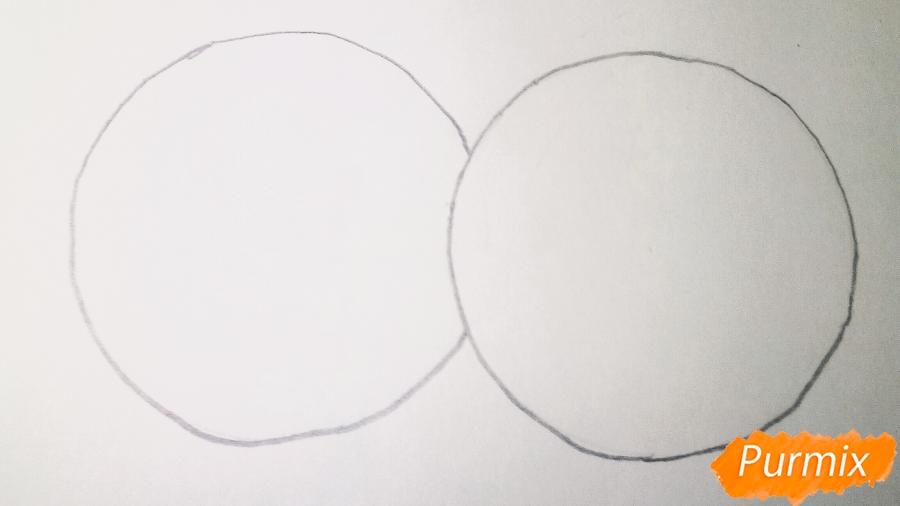 Рисуем двух маленьких аниме котят - шаг 1
