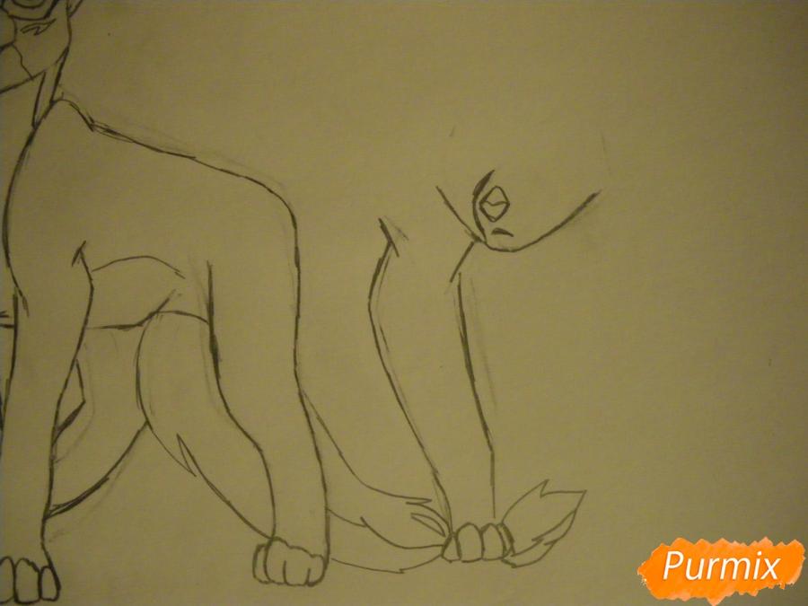 Рисуем двух серых кошечек в стиле аниме - шаг 7