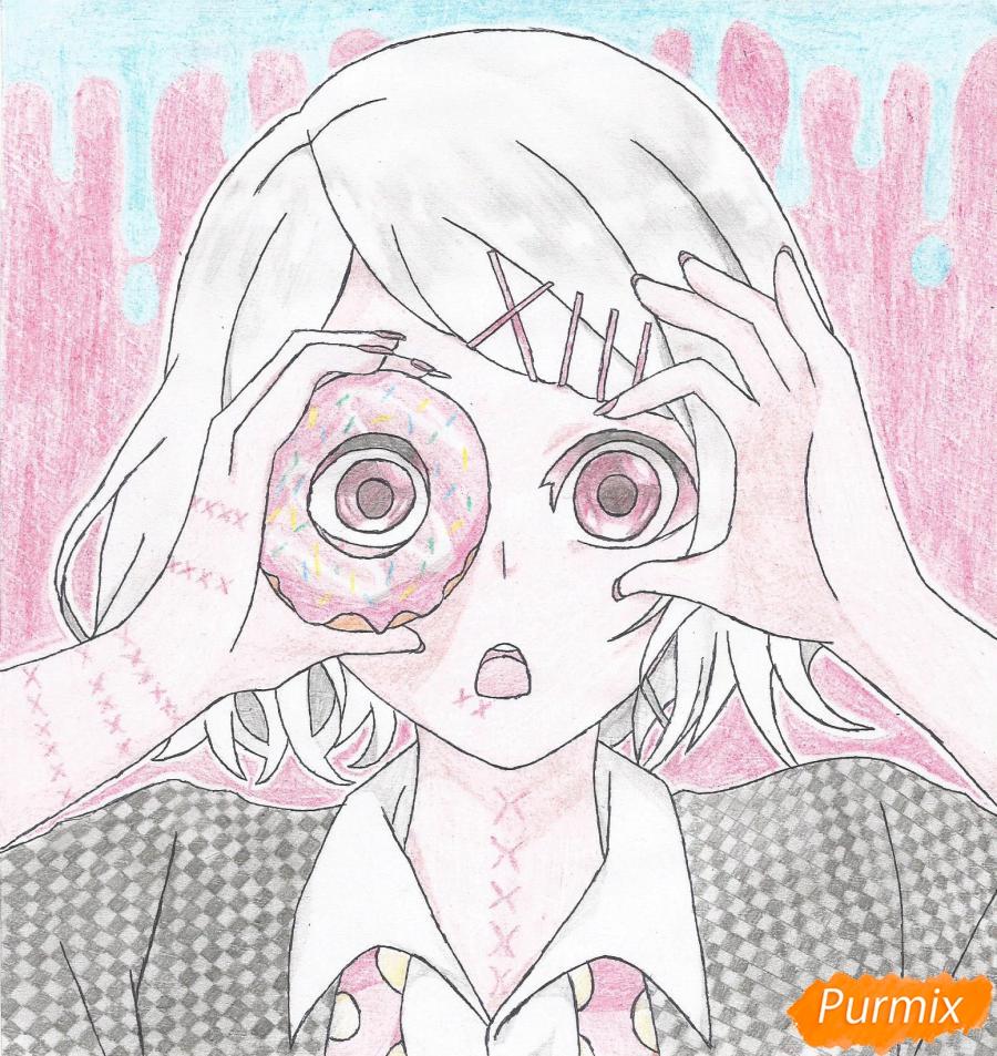 Рисуем Джузо Судзуя из аниме Токийский гуль - шаг 11