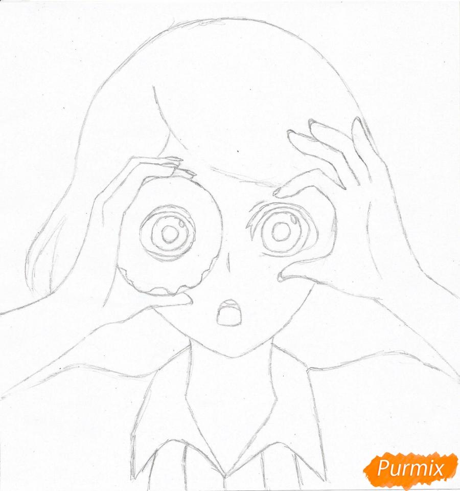 Рисуем Джузо Судзуя из аниме Токийский гуль - шаг 3