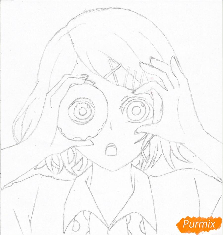 Рисуем Джузо Судзуя из аниме Токийский гуль - шаг 5