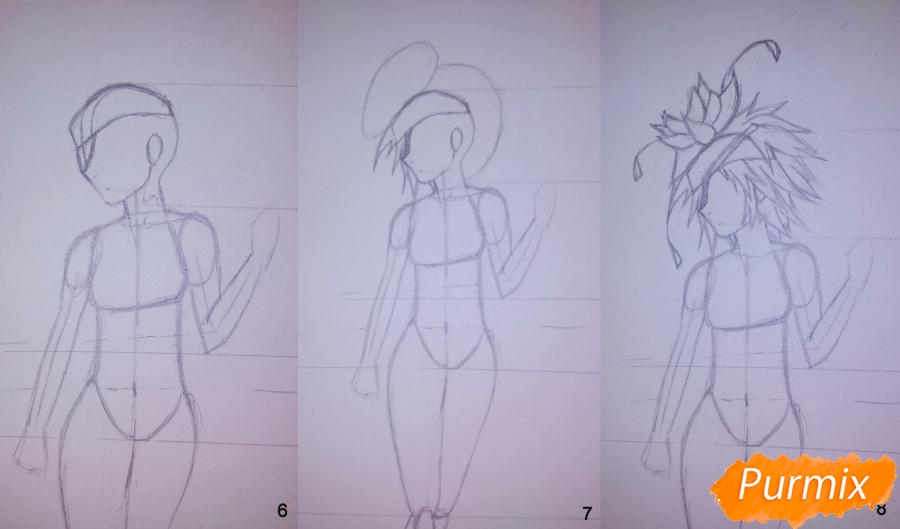 Рисуем Фреми Спиддроу из аниме Герои шести цветов - шаг 3
