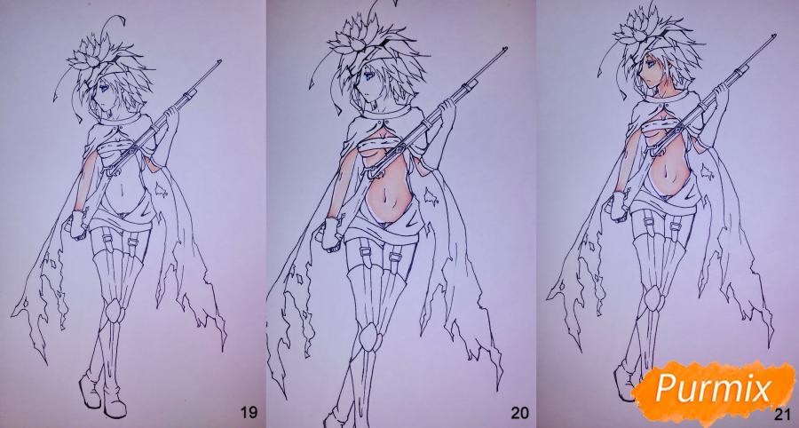 Рисуем Фреми Спиддроу из аниме Герои шести цветов - шаг 8
