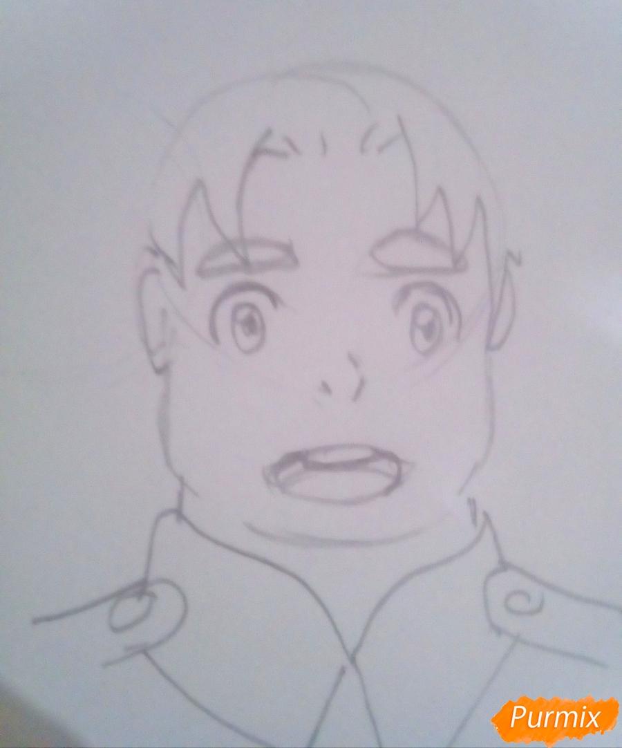 Рисуем Футоши из аниме Милый Во Франксе карандашами - шаг 2