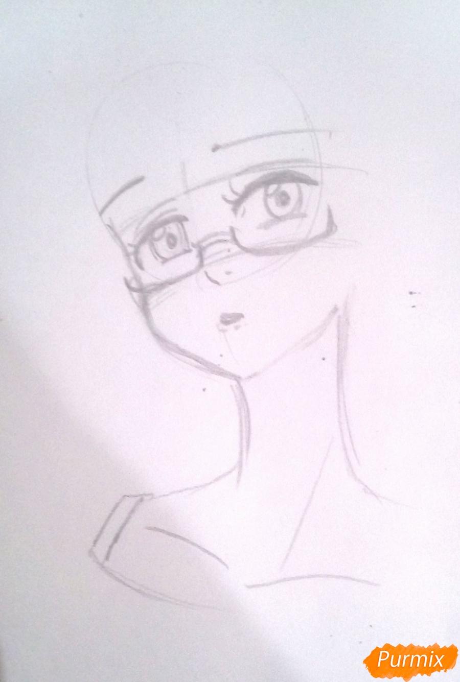 Рисуем Гаутера из аниме Семь Смертных Грехов карандашами - шаг 2