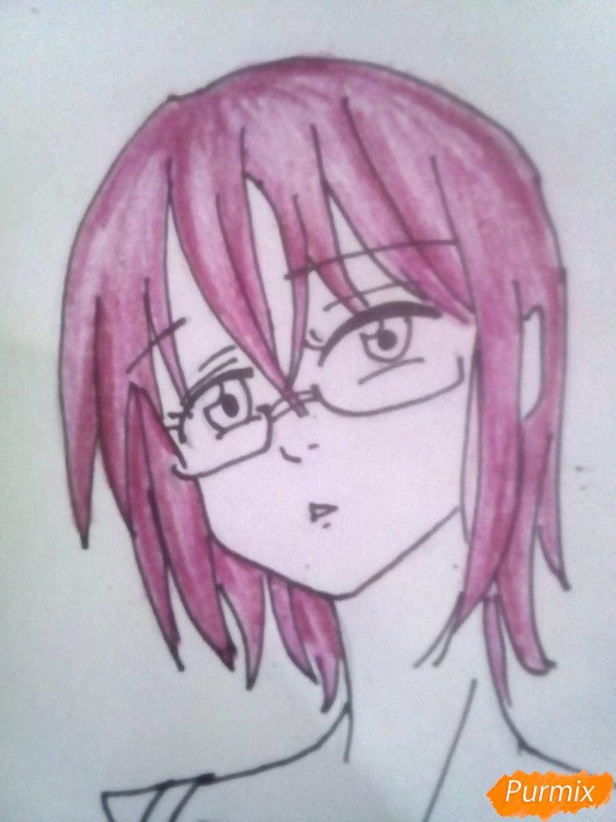 Рисуем Гаутера из аниме Семь Смертных Грехов карандашами - шаг 5
