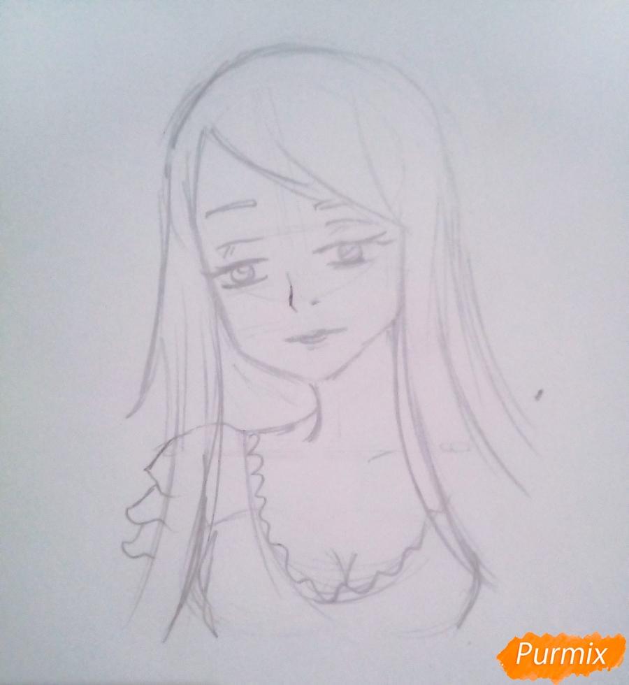 Рисуем гуля Ризе Камиширо из аниме Токийский Гуль - шаг 5