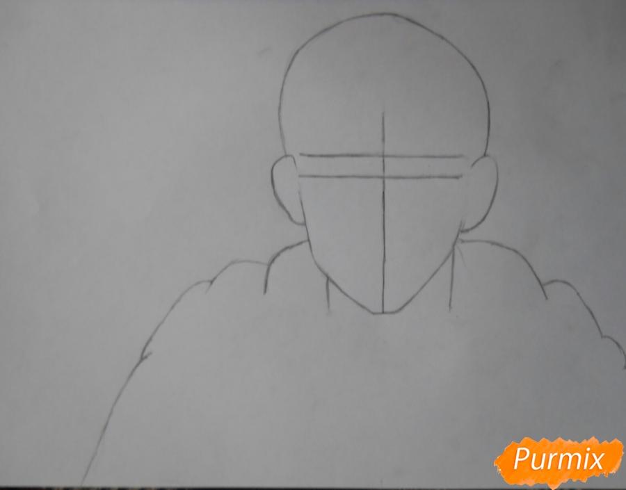 Рисуем Гюнтера из аниме Атака титанов - шаг 1