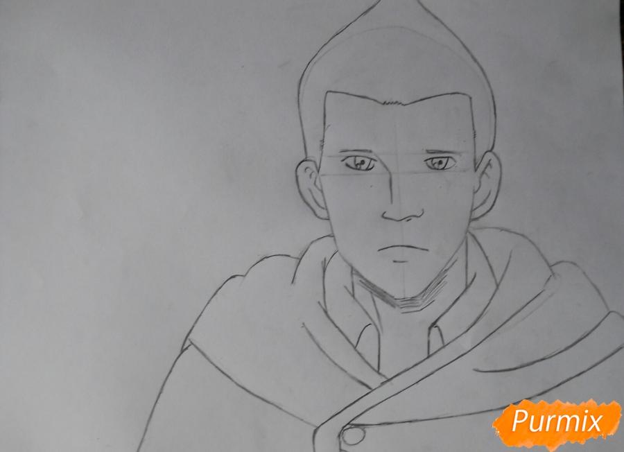 Рисуем Гюнтера из аниме Атака титанов - шаг 4