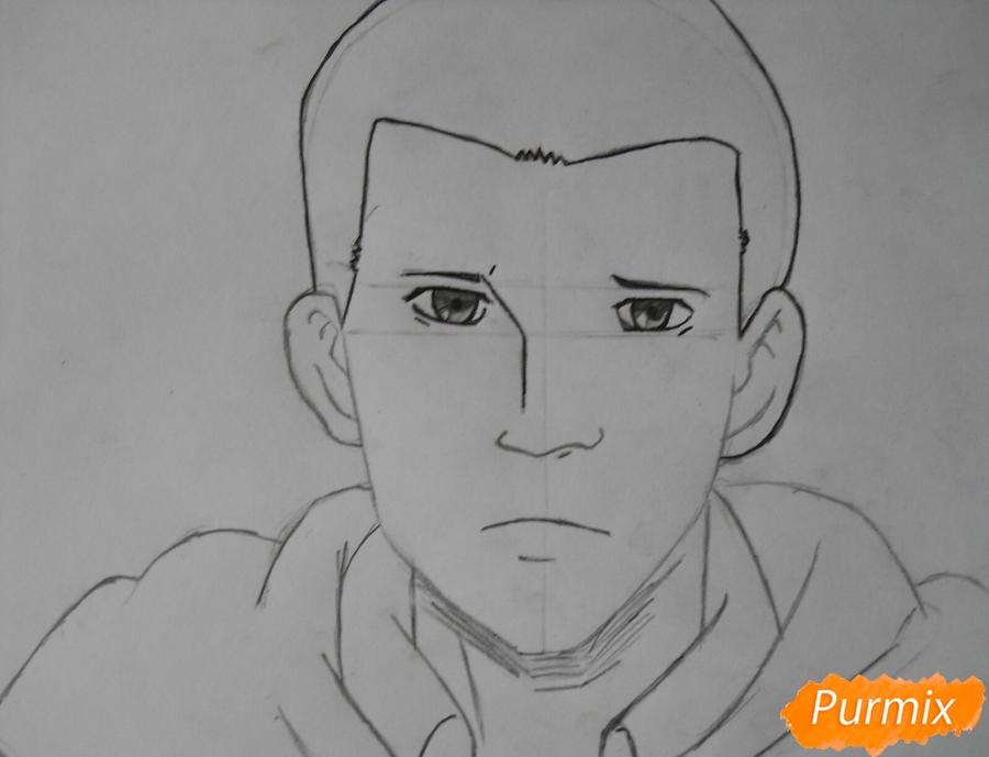 Рисуем Гюнтера из аниме Атака титанов - шаг 5
