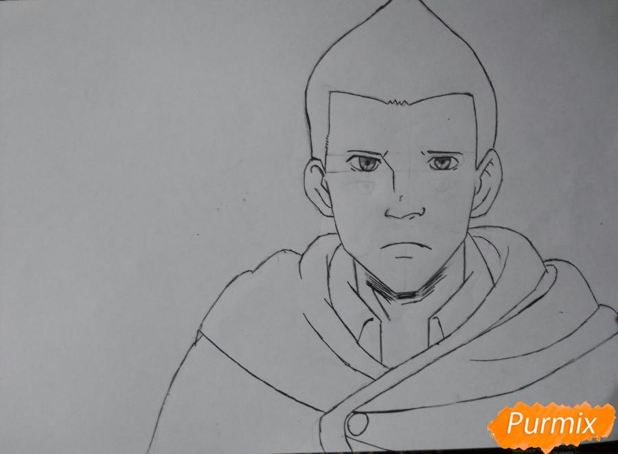 Рисуем Гюнтера из аниме Атака титанов - шаг 6