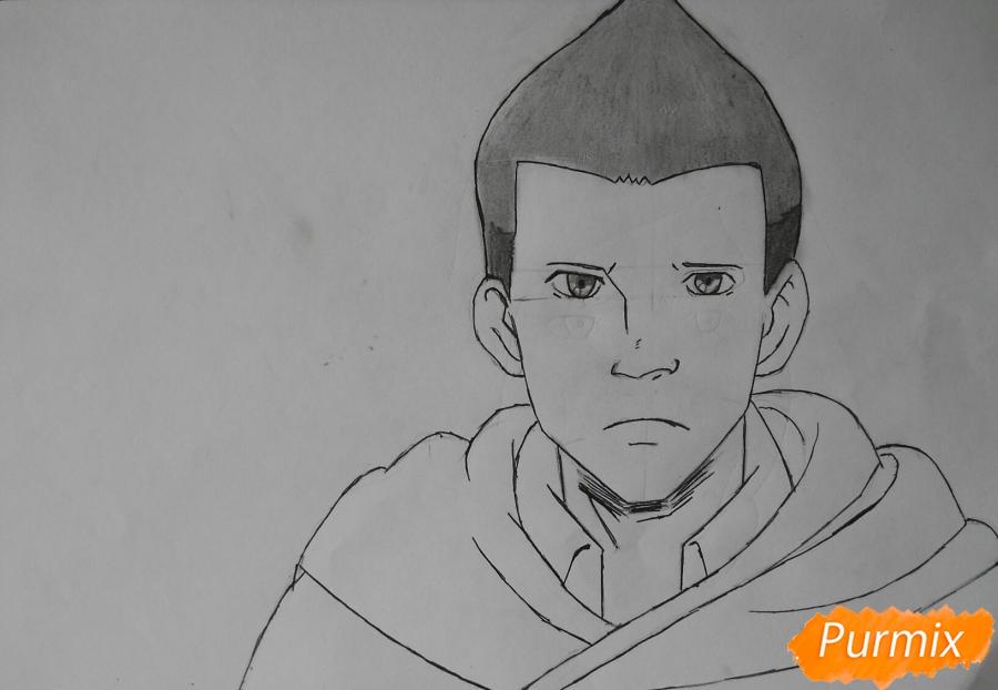 Рисуем Гюнтера из аниме Атака титанов - шаг 7