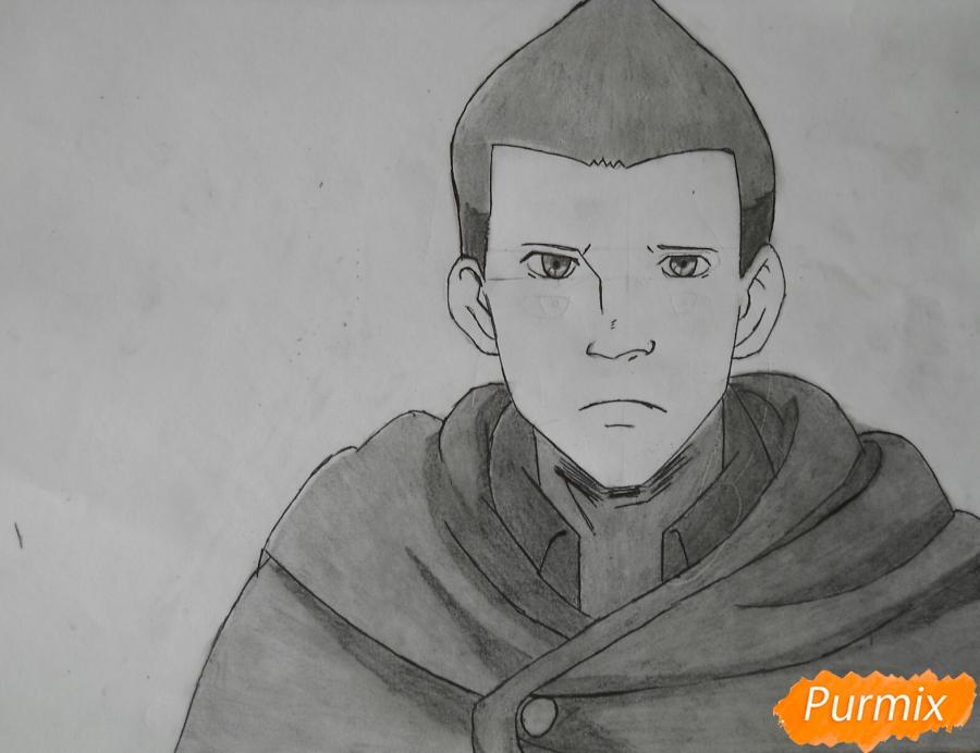 Рисуем Гюнтера из аниме Атака титанов - шаг 9